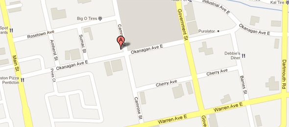 Our Location: 275 Okanagan Avenue East - Penticton, BC V2A 3J8